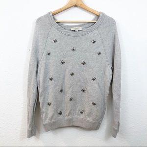 Ann Taylor LOFT Rhinestone Embellished Sweater M